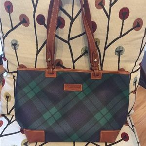 Dooney & Bourke plaid tote purse